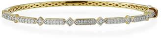 Jude Frances Lisse 18k Gold Diamond Bangle Bracelet