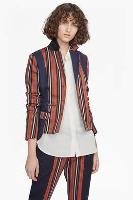 French Connenction Dovie Stripe Suiting Mix Jacket