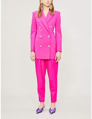 ATTICO Diamanté-embellished stretch-wool jacket