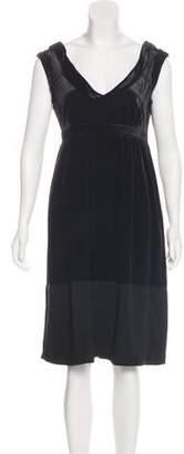 Burberry Silk-Blend Velvet Midi Dress
