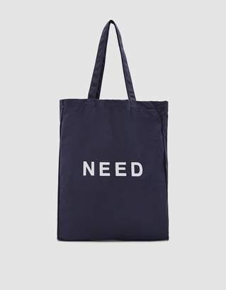 Need Tote Bag in Peacoat