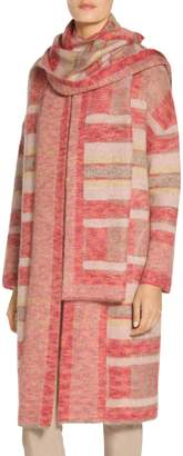 St. John Lofty Blanket Plaid Knit Coat