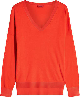 HUGO Sanice Silk-Cotton V-Neck Pullover