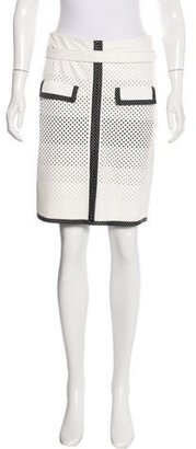 Jean Paul Gaultier Belted Perforated Leather Skirt $225 thestylecure.com