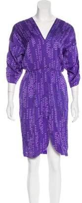Tucker Silk Printed Dress w/ Tags