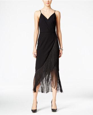 RACHEL Rachel Roy Fringe Faux-Wrap Midi Dress, Only at Macy's $179 thestylecure.com