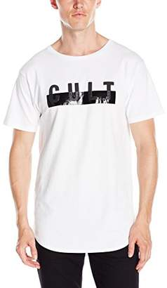 Cult of Individuality Men's Short Sleeve Tall Crew Neck T-Shirt