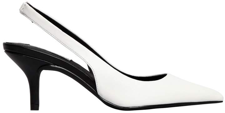 70mm Marks Faux Leather Slingback Pumps