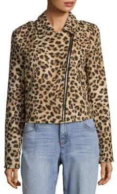 Leopard Print Moto Jacket