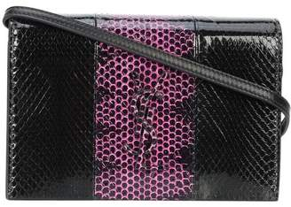 Saint Laurent Kate Shoulder Bag Snakeskin Black/Pink