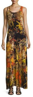 Fuzzi Sleeveless Floral-Print Maxi Dress, Multi $430 thestylecure.com