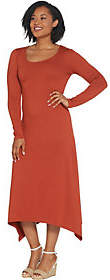 G.I.L.I. got it love it G.I.L.I. Peached Knit Long Sleeve Scoop NeckMaxi Dress