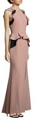 BCBGMAXAZRIA Anusha Ruffle Peplum Gown $398 thestylecure.com