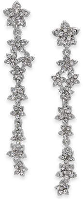 INC International Concepts I.N.C. Silver-Tone Crystal Cluster Flower Linear Drop Earrings, Created for Macy's