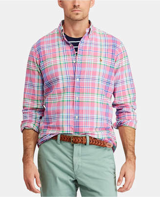c57f4121 Polo Ralph Lauren Men Classic Fit Plaid Oxford Shirt