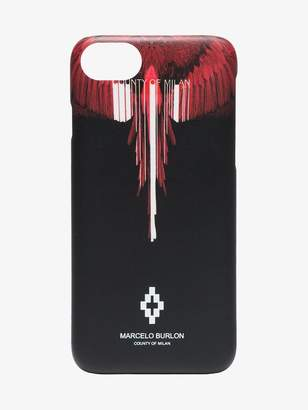 Marcelo Burlon County of Milan black and red Wings iPhone 8 case