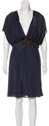 Yigal Azrouel Cap Sleeve Knee-Length Dress