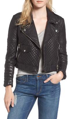 Joe's Jeans Quilted Leather Moto Jacket