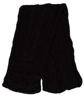Joseph Black Cable Knit Scarf
