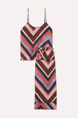 Desmond & Dempsey Printed Cotton-voile Pajama Set - Pink