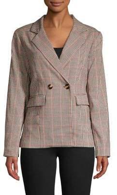 Hudson June And Plaid Double-Breasted Blazer