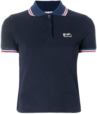 Marni cropped logo patch polo shirt