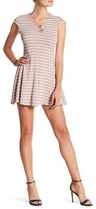 Sadie & Sage Striped Cap Sleeve Dress
