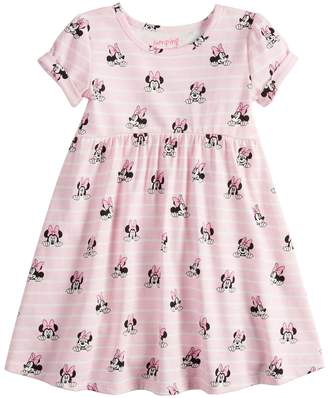 Disneyjumping Beans Disney's Minnie Mouse Toddler Girl Striped Babydoll Dress by Jumping Beans