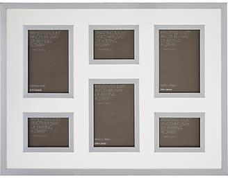 John Lewis & Partners Clover Multi-aperture Floating Photo Frame, 6 Photo, Silver