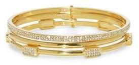 Vince Camuto Two-Piece Crystal Goldtone Bangles Set
