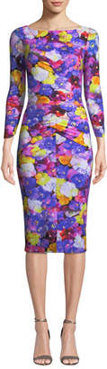 Chiara Boni Siviliana Floral Bateau-Neck Dress