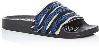 adidas Women's Adilette Striped Slide Sandals