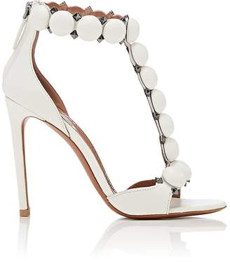 Alaia Women's Leather T-Strap Sandals