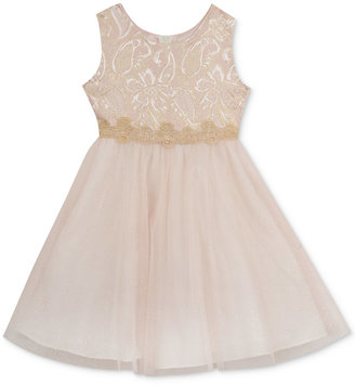 Rare Editions Brocade Tulle Dress, Toddler & Little Girls (2T-6X) $74 thestylecure.com