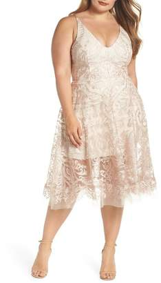 Xscape Evenings Embroidered Fit & Flare Dress