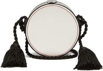 HILLIER BARTLEY Tassel-embellished circle cross-body leather bag