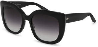 Barton Perreira Olina Gradient Chunky Cat-Eye Sunglasses, Black/Smolder