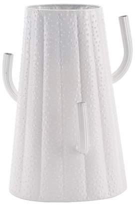 ZUO Modern Large White Cactus Metal Vase