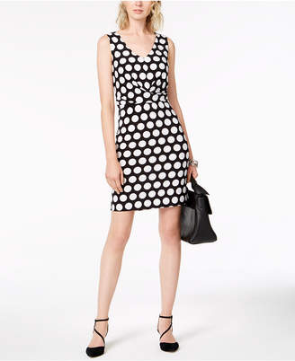 INC International Concepts I.n.c. V-Neck Dot-Print Dress, Created for Macy's