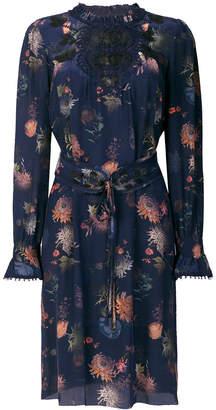 Marc Cain belted floral-print dress