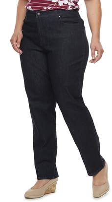 Croft & Barrow Plus Size Classic Tummy Control Straight-Leg Jeans