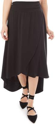 Iz Byer Juniors' Solid Wrap Maxi Skirt
