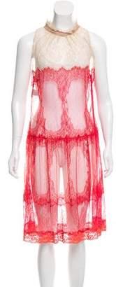 Alberta Ferretti Lace Midi Dress
