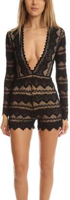 Nightcap Clothing Sierra Lace Playsuit