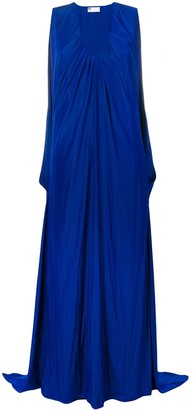 Lanvin draped maxi v-neck dress