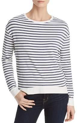 Majestic Filatures Lightweight Striped Sweatshirt