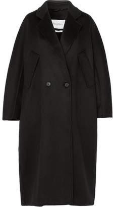 Max Mara Brushed-cashmere Coat - Black