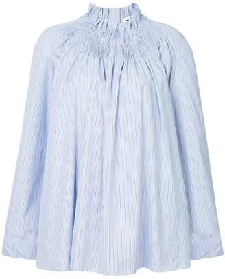 Teija wide sleeve striped blouse