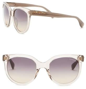 588747a4528 Lanvin 52mm Round Acetate with Swarovski Crystal Sunglasses