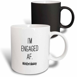 3dRose IM ENGAGED AF. #SHITBRIDESSAY - Magic Transforming Mug, 11-ounce